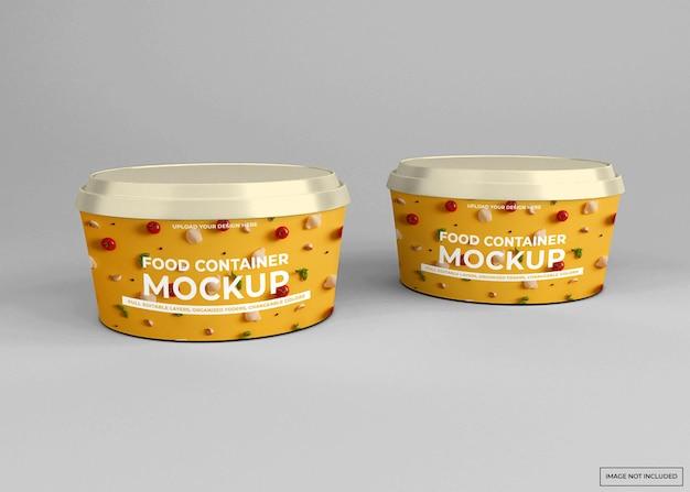 Mockup di contenitore per alimenti da asporto arrotondato