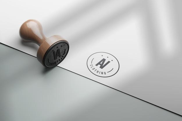 Design mockup timbro di gomma