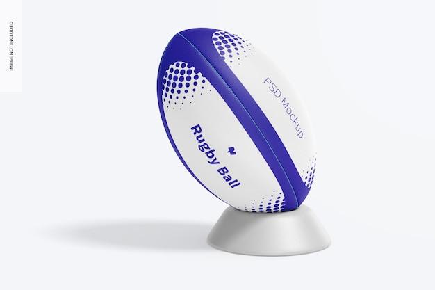 Mockup di palla da rugby, vista frontale