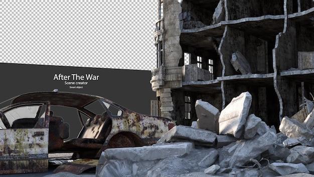 Città in rovina dopo la guerra città danneggiate