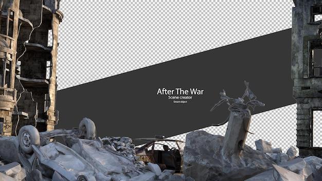 Città in rovina dopo la guerra città danneggiate war