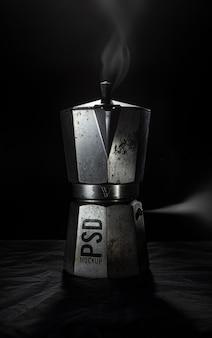 Rusty coffee machine mockup