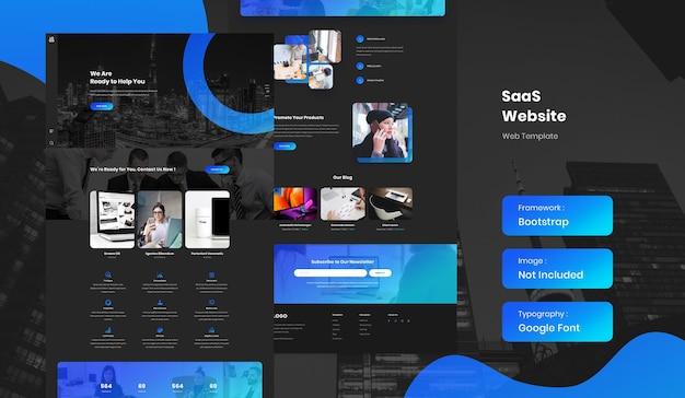 Modello di sito web aziendale saas e software