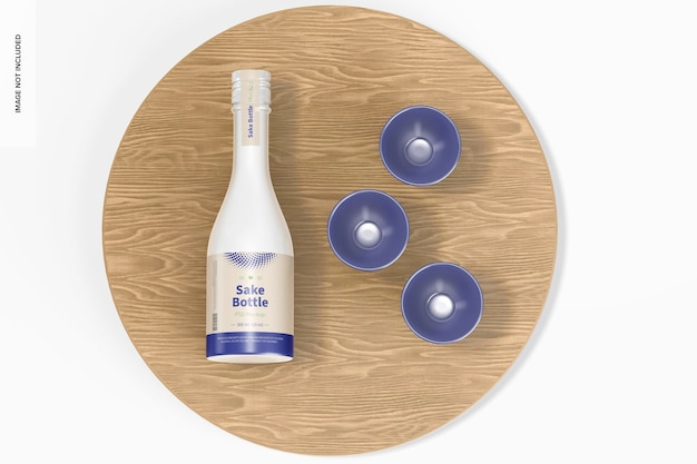 Mockup di bottiglia di sake