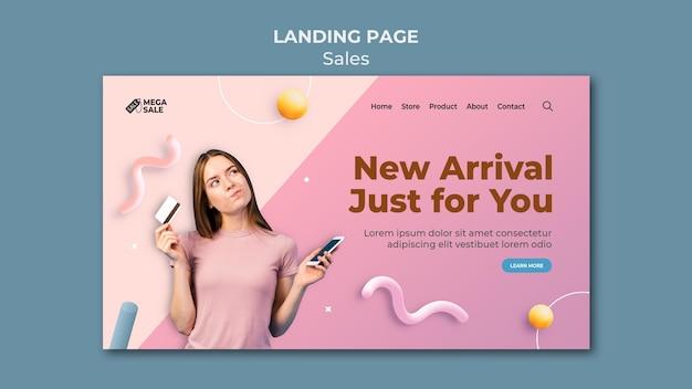 Modello di progettazione della pagina di destinazione di vendita