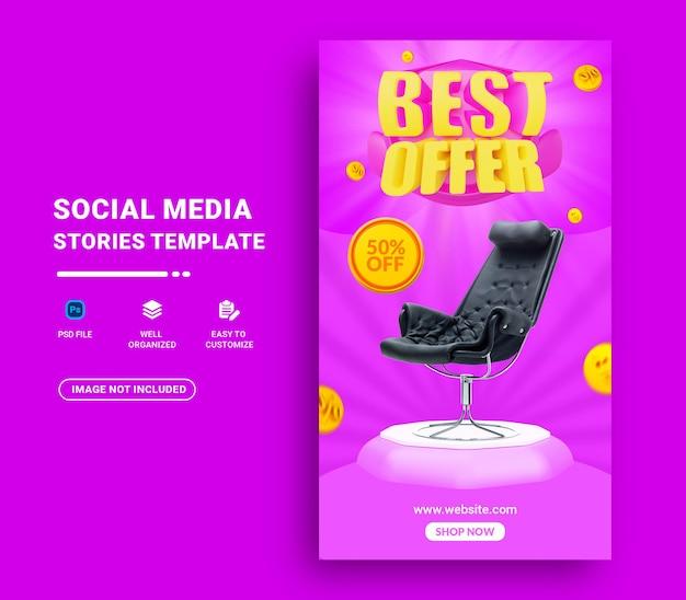 Modello di storia dei social media di vendita