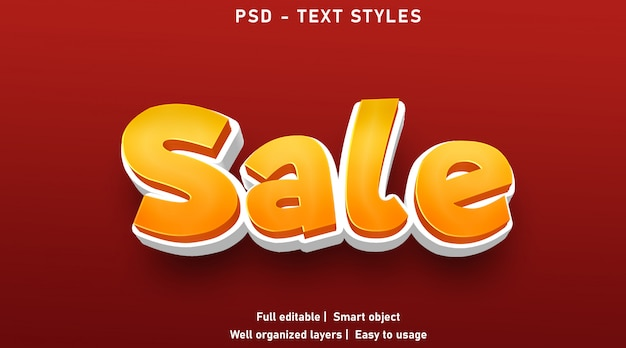Stile di effetti di testo di vendita