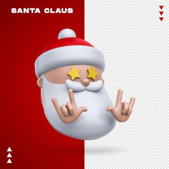 Babbo natale emoji nel rendering 3d