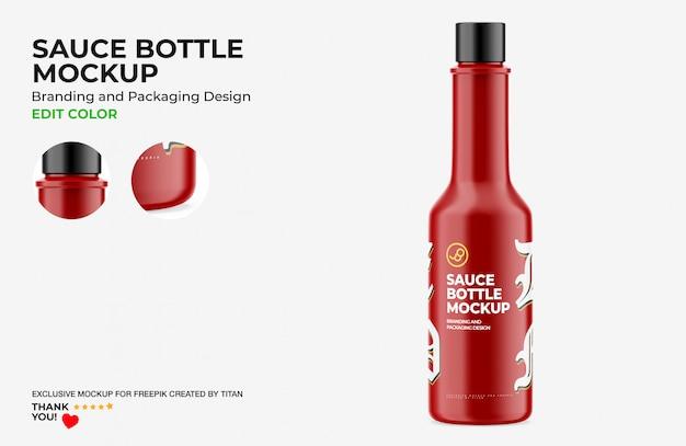 Mockup bottiglia di salsa