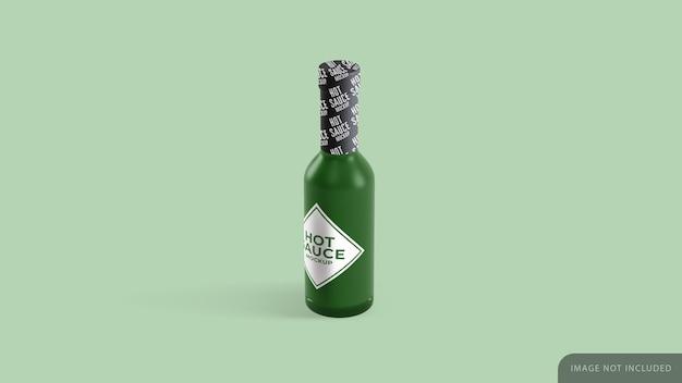 Bottiglia di salsa mockup