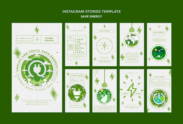 Risparmia energia nelle storie dei social media