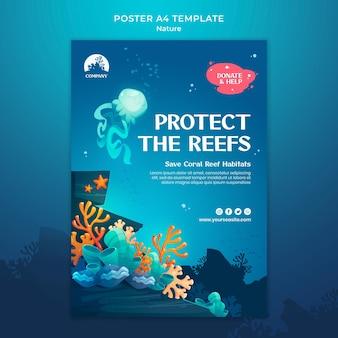 Salva il modello di stampa degli oceani