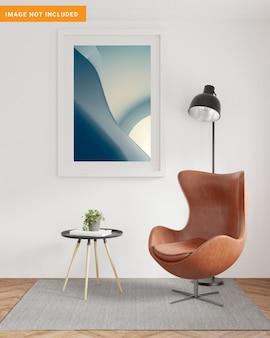In sfondo interni scandinavo nel rendering 3d