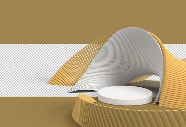 Scena della scena del podio minimo per i prodotti di visualizzazione pubblicità design file psd trasparente.