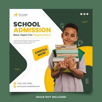 Design del post sui social media per l'ammissione alla scuola