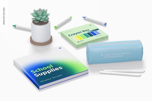 Mockup di materiale scolastico