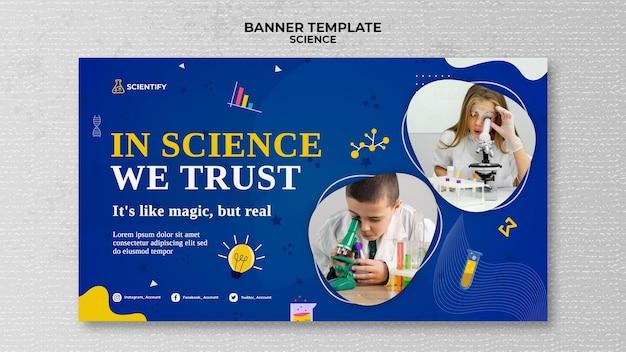 Modello di banner per lezioni di scienze