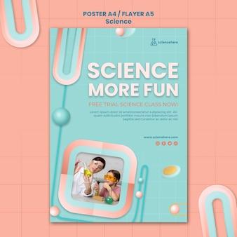 Modello di poster di classe di scienze