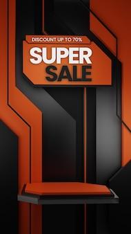 Distintivo di vendita del podio dell'ornamento scifi