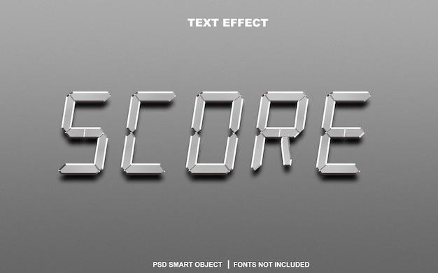 Punteggio effetto testo. oggetto intelligente di testo modificabile