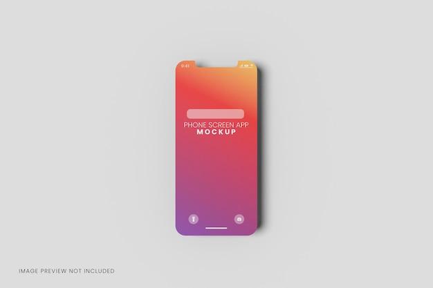 Mockup di presentazione dell'app dell'interfaccia utente del telefono dello schermo