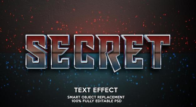 Modello di effetto testo segreto