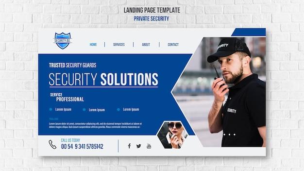 Modello di pagina di destinazione dei servizi di sicurezza