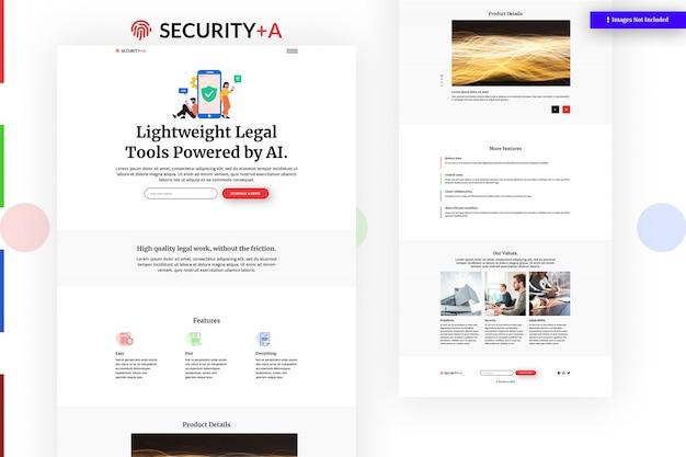 Modello di sito web di sicurezza