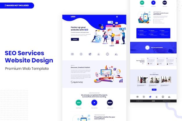 Modello di progettazione di siti web di servizi seo
