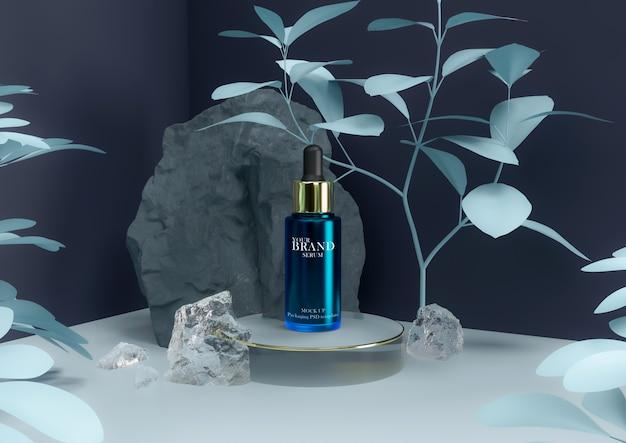 Siero prodotto per la cura della pelle in una confezione elegante.