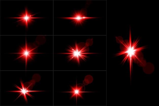 Set di scintillio dorato astratto sparkle