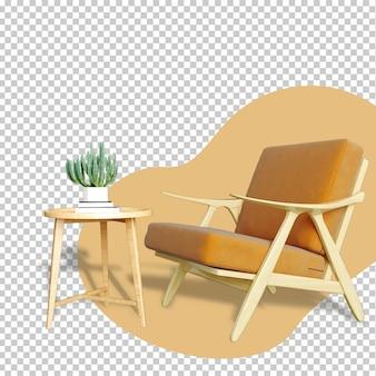 Set di rendering 3d mockup interni