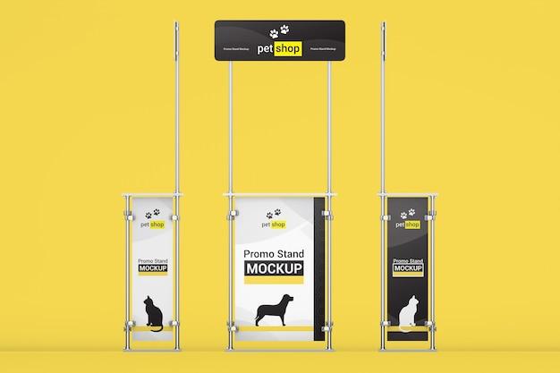 Set di promo stand mockup Psd Premium