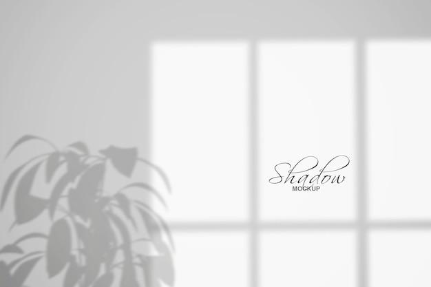 Effetti di sovrapposizione delle ombre con sfondo di foglie tropicali tropical
