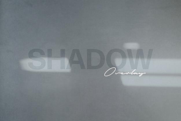 Mockup di sovrapposizione di ombre