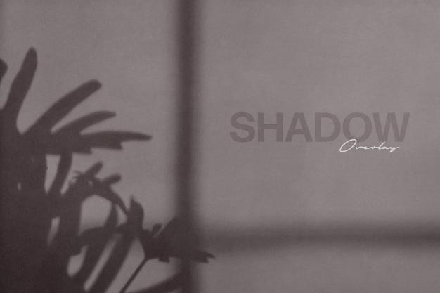 Mockup di muro sovrapposizione ombra