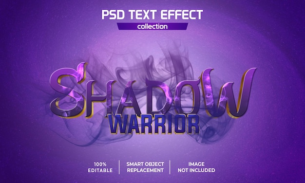 Effetto testo film shadow warrior