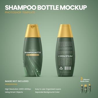 Mockup di bottiglie di shampoo