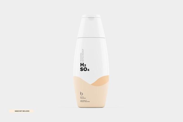 Mockup di confezionamento di bottiglie di shampoo