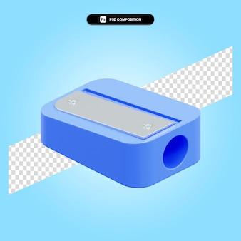 L'affilatrice 3d rende l'illustrazione isolata