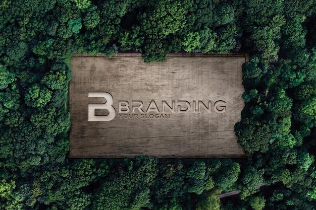 Logo branding rasatura su scatola in legno