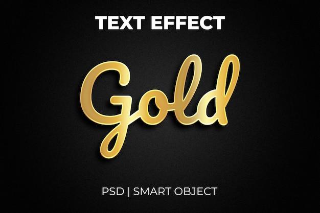 Effetto testo oro brillante