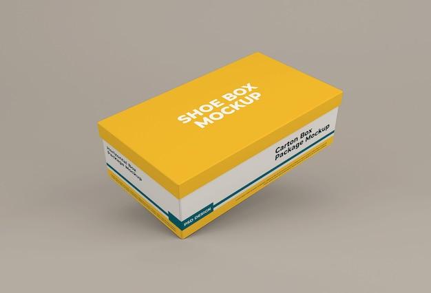 Design isolato modello di scatola di scarpe
