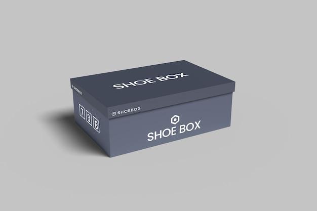 Mockup di scatola da scarpe