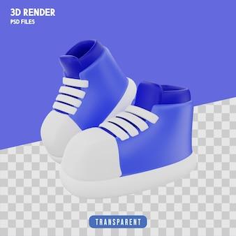 Prodotto di scarpe rendering 3d isolato premium