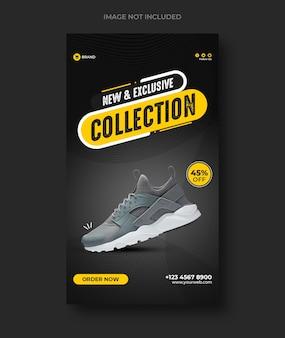 Vendita di scarpe sui social media e storie di instagram