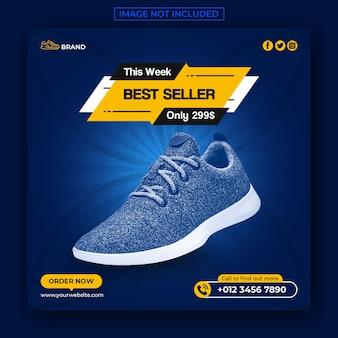 Vendita scarpe social media post e banner web