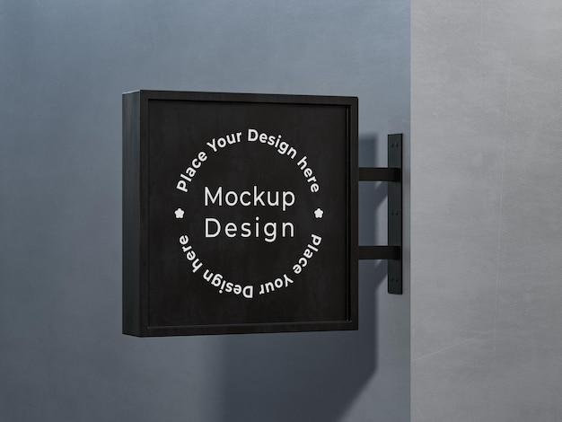Progettazione del modello dell'insegna del negozio nel rendering 3d