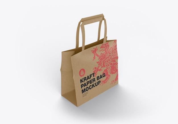Acquisto di mockup di sacchetti di carta kraft