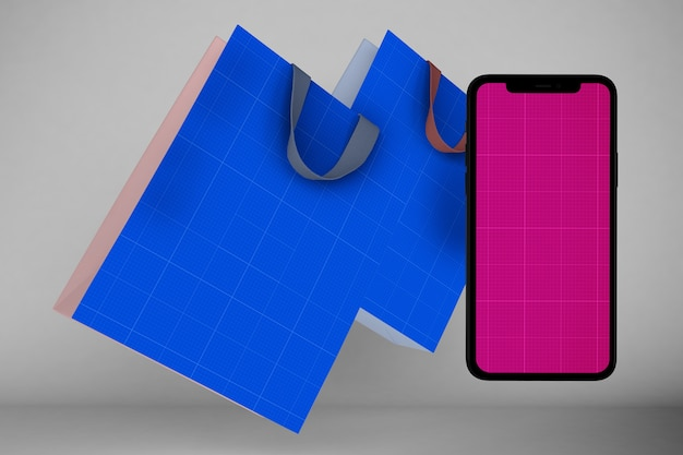 Mockup dell'app per lo shopping